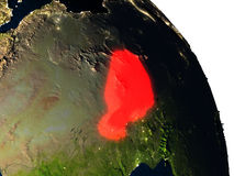 Niger from space Royalty Free Stock Images