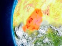 Niger ter wereld van ruimte Royalty-vrije Stock Afbeelding