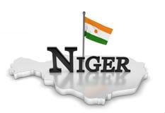 Niger-Tribut stock abbildung