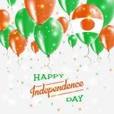 Niger Vector Patriotic Poster Fond de grunge de l'indépendance Day Images libres de droits