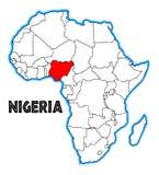 Nigeria Afrykańska mapa royalty ilustracja
