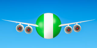 Nigeria airlines and flying& x27;s concept. 3D Royalty Free Stock Image