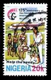 Nigeria auf Briefmarken stockbilder