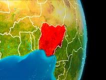 Nigeria auf Erde lizenzfreies stockbild