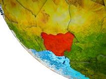 Nigeria auf Erde 3D stock abbildung
