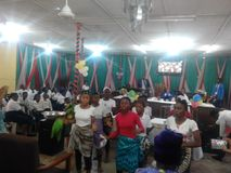Nigeria churches culture stock photo