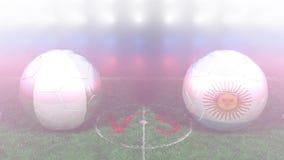 Nigeria contra la Argentina, mundial 2018 de la FIFA Vídeo original 3D