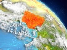 Nigeria de la órbita ilustración del vector
