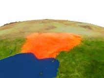 Nigeria en rojo de la órbita libre illustration