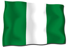 Nigeria Flag Stock Photo