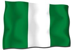 Nigeria Flag. Waving flag of nigeria - nigerian flag royalty free illustration