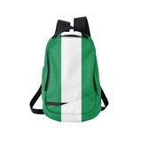 Nigeria flag backpack isolated on white Stock Photos
