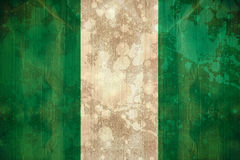 Nigeria flag in grunge effect Royalty Free Stock Photography