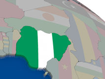 Nigeria with flag Stock Photo