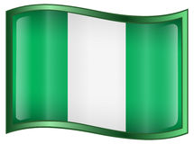 Nigeria Flag Icon Stock Images