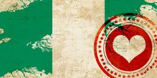 Nigeria flag Stock Photography