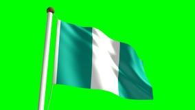 Nigeria flag Royalty Free Stock Photography