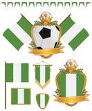Nigeria flaga royalty ilustracja