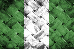 Nigeria flaga, flaga na drewnie royalty ilustracja