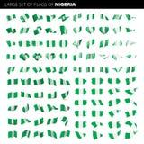 Nigeria flaga, wektorowa ilustracja Fotografia Stock