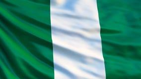 Nigeria-Flagge Wellenartig bewegende Flagge von Illustration Nigerias 3d stock abbildung