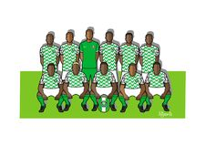Nigeria football team 2018. Qualified for the 2018 world cup in Russia Royalty Free Stock Images