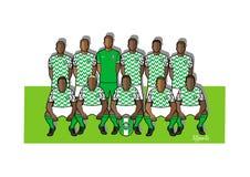 Nigeria fotbollslag 2018 Royaltyfri Illustrationer