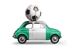 Nigeria-Fußballauto stockbild