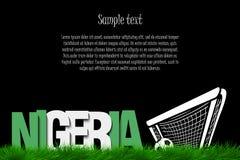 Nigeria i piłki nożnej piłka przy bramą ilustracji