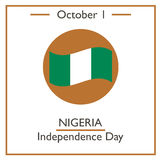 Nigeria Independence Day, October 1 Royalty Free Stock Images