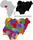 Nigeria map Royalty Free Stock Photography