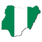 Nigeria map flag Royalty Free Stock Photography