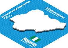Nigeria map vector Royalty Free Stock Image