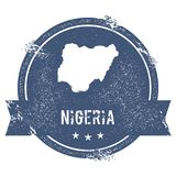 Nigeria mark. Royalty Free Stock Photography