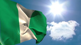 Nigeria national flag waving stock footage