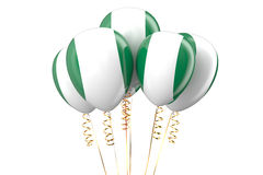 Nigeria patriotic balloons Royalty Free Stock Photography