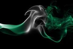 Nigeria-Rauchflagge stockbilder