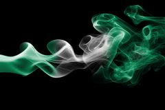 Nigeria-Rauchflagge Lizenzfreie Stockfotografie
