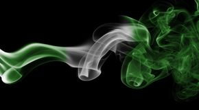 Nigeria-Rauchflagge Stockfoto