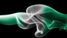Nigeria-Rauchflagge Stockfotografie