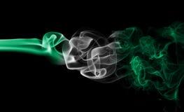 Nigeria-Rauchflagge Lizenzfreies Stockfoto