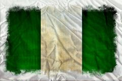 Nigeria-Schmutzflagge stockbild