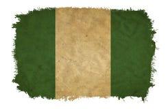 Nigeria-Schmutzflagge lizenzfreie stockfotografie