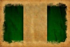 Nigeria-Schmutzflagge lizenzfreies stockbild