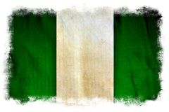 Nigeria-Schmutzflagge lizenzfreies stockfoto
