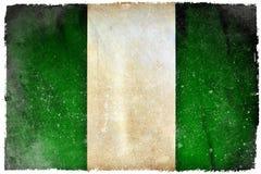 Nigeria-Schmutzflagge lizenzfreie stockbilder