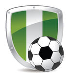 Nigeria shield soccer Royalty Free Stock Image
