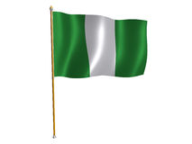 Nigeria silk flag Stock Photography