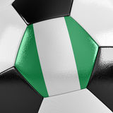 Nigeria Soccer Ball Royalty Free Stock Photos