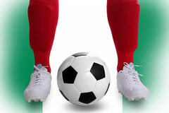 Nigeria soccer player Royalty Free Stock Photos